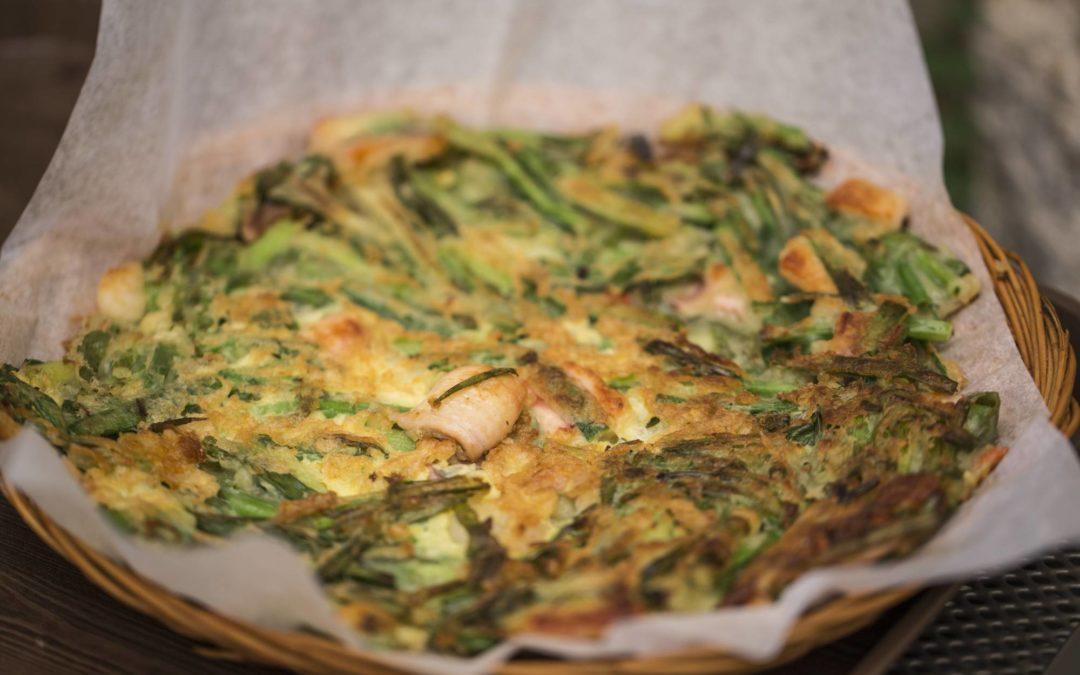 Pancake aux fruits de mer & légumes